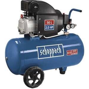 Compresseur d'air Scheppach 50L - 1500W, 8 Bars