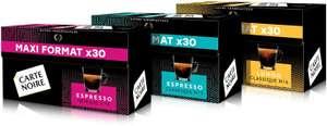 Lot de 90 Capsules Carte Noire compatibles Nespresso : 30x N°7 Classique + 30x N°9 Intense + 30x N°6 Lungo
