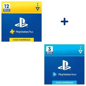 Abonnement Playstation Plus (PS+) de 12 mois + 3 mois d'abonnement Playstation Now (Dématérialisé)