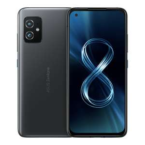 Smartphone 5.92'' Asus Zenfone 8 5G - Full HD+ AMOLED 120 Hz, Snapdragon 888, 16Go RAM, 256Go, 4000 mAh, Charge rapide 30W, Wifi 6, Noir