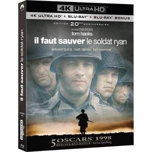 Sélection de Blu-Ray et DVD en promotion - Ex: Blu-Ray 4K Il faut sauver le Soldat Ryan à 13.99€ (esc-distribution.com)
