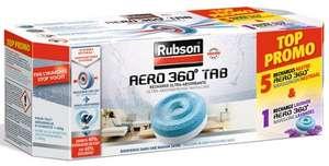 Lot de 6 recharges (5 neutres + 1 lavande) pour absorbeur d'humidité Rubson Aéro 360° + 3 tablettes (via 11.52€ sur carte de fidélité)