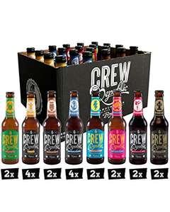 Coffret de variétés de bières artisanales Crew Republic (16 + verre et notes de dégustation - Vendeur tiers)