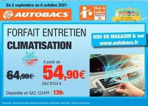 Entretien Climatisation avec Gaz R134A - Autobacs