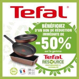 50% de remise sur la gamme Tefal Resource pour la reprise de Moules, Poêles ou Casseroles