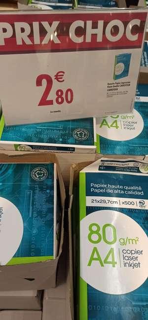 Ramette de papier A4 Impression Haute Qualité Carrefour - 500 feuilles, 80g (Villeneuve 12)