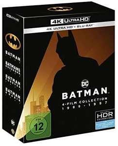 Coffret Blu-Ray 4K Batman Collection 1989-1997 1-4 - 4K UHD (Import Autrichien)