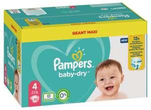 Mega pack de couches Pampers Baby Dry - Différentes tailles (via 17,85€ sur la carte fidélité + BDR)