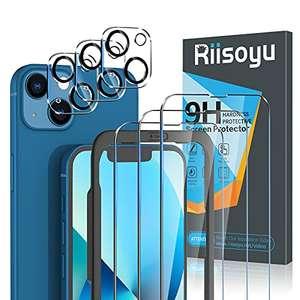Lot de 3 verres trempés + 3 Protection de caméra Riisoyu pour pour IPhone 13 ou 13 Pro Max (Vendeur Tiers - via coupon)