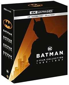 Coffret Blu-Ray 4K Batman Collection 1989-1997 1-4 - 4K UHD (Import Italie)