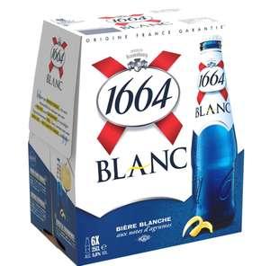 Pack de 6 bières blanches 1664 - 6x25cl