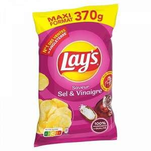 Chips Lays Sel & Vinaigre Maxi Format - 370g, Divers variétés (Via 2.80€ sur Carte Fidélité) - Bagnolet (93)