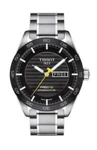 Montre automatique Tissot PRS 516 Automatic Day-Date Black Dial Steel pour homme - watchmaxx.com(Frais d'importation inclus)