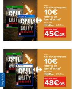 [Précommande] : Jeu Call of Duty : Vanguard sur PS5 ou Xbox Series + 10€ en bon d'achat utilisable sur le rayon Jeux vidéo