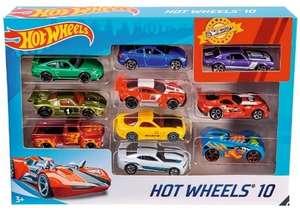 Coffret Jouet 10 véhicules Hot Wheels - modèle aléatoire