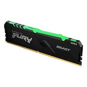 Barrette Mémoire RAM Kingston Fury Beast RGB - 16 Go DDR4, 3200 MHz, CL16