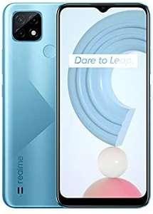 """Smartphone 6.5"""" Realme C21 - HD+, Helio G35, 4 Go RAM, 64 Go, 5000 mAH, Dual Sim, NFC, bleu"""