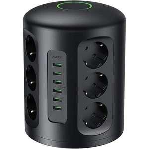 Tour Multiprise Parasurtenseur Parafoudre Aukey - 6 Ports USB et 12 Prises Secteur avec Cordon de 2m (Vendeur Tiers)