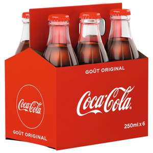 Lot de 2 packs de 6 bouteilles en verre Coca Cola sans sucre - 12 × 25cl