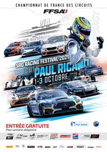 Entrée gratuite pour le SRO Racing Festival - Circuit Paul Ricard Castellet (83)