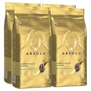 Lot de 4 paquets de café en grains L'Or Absolu - 4 x 1 Kg