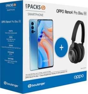 "Smartphone 6.5"" Oppo Reno 4 Pro 5G (full HD+, SnapDragon 765G, 12 Go de RAM, 256 Go) + Casque audio sans-fil B&O"