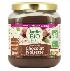 Pot de pâte à tartiner chocolat noisette Jardin BIO (400g)
