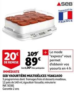 Yaourtière SEB Multidélices YG661A00