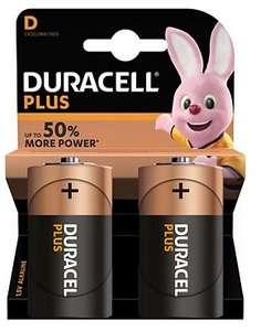 Lot de 2 piles Duracell Alcaline Plus Power D/LR20 (via retrait magasin)