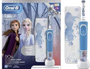 Brosse à Dents Électrique Rechargeable Oral-B Kids La Reine des Neiges 2 avec boîte de transport et 1 Brossette
