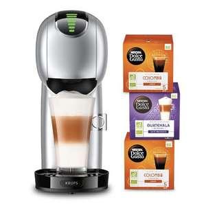 Cafetière à dosette Krups Nescafé Dolce Gusto Genio S Touch YY4586FD + 3 paquets de dosettes - 1500 W, Gris