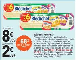 Lot de 2 paquets de 6 assiettes Blédina Blédichef - 12 x 250g