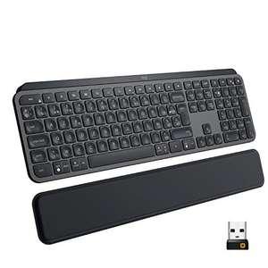 Clavier sans fil Logitech MX Keys Plus - noir (avec repose-poignet séparé)