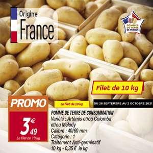 Filet de 10kg de pommes de terre de consommation - Catégorie 1, Origine France