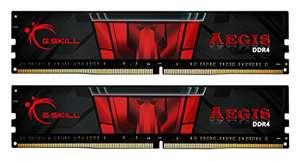 Kit mémoire RAM DDR4 G.Skill Aegis 32 Go (2 x 16 Go) - 3200 MHz, CL16 (F4-3200C16D-32GIS)