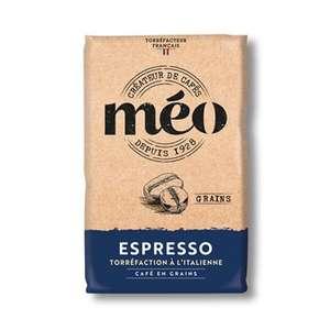 Sachet de café en grain Méo Espresso - 1 kg (Via 2.33€ sur le Compte Fidélité)