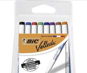 4 paquets de 8 feutres BIC Velleda pour Tableau Blanc Effaçables à Sec-Pointe Conique Fine, Couleurs Assorties (soit 4x8 = 32 feutres)