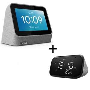 """Assistant vocal Lenovo Lenovo Smart Clock V2 + Réveil connecté avec écran 4"""" Lenovo Smart Clock Essential - Compatible Google Assistant"""