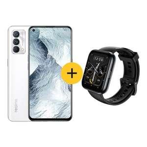 "Pack smartphone 6.43"" Realme GT Master Edition 5G (256 Go, blanc) + montre connectée Watch 2 Pro"