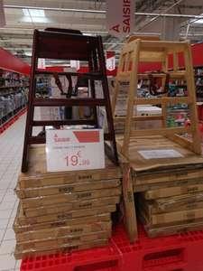 Chaise haute en bois (chêne clair ou marron) - Givors (69)