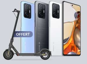 "[Précommande] Smartphone 6.67"" Xiaomi 11T 5G (FHD+, Dimensity 1200, 8Go RAM, 128Go) + trottinette Xiaomi Mi Essential (+ 17.07€ RP, via ODR)"