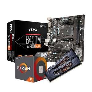 Kit Évo - Ryzen 5 1600AF + MSI B450M-A PRO MAX + 2 x 8 Go de RAM G.Skill Flare X Black 3200 MHz CL16
