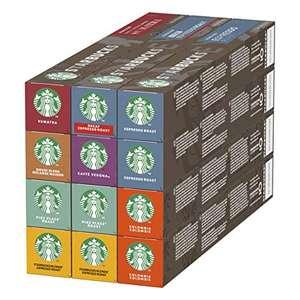 Pack Variété capsules Starbucks By Nespresso - 8 goûts différents, 12 x 10 capsules (120 capsules)
