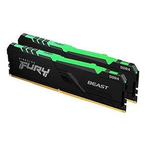 Kit Mémoire RAM Kingston Fury Beast (KF432C16BBAK2/64) - 64 Go (2 x 32 Go), DDR4, 3200MHz, CL16, RGB