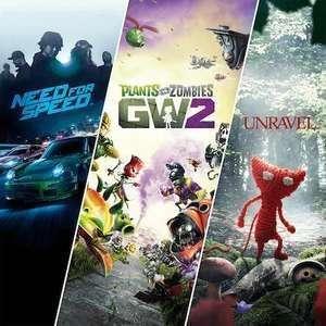 Pack Famille EA - Need For Speed + Plants vs Zombies Garden Warfare 2 + Unravel sur PS4 (Dématérialisé)