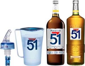 Coffret - gallon de Pastis 51 (4.5 L) + bouteille de Pastis 51 (1.5 L) + carafe + bec verseur