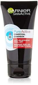 Flacon Garnier SkinActive PureActive Charbon Masque Peel-Off Anti-Points Noirs - 50 ml (2,64€ via Abonnement)