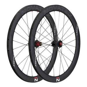 Paire de roues Novatec R5 Carbon Disc Clincher 700C - Noir