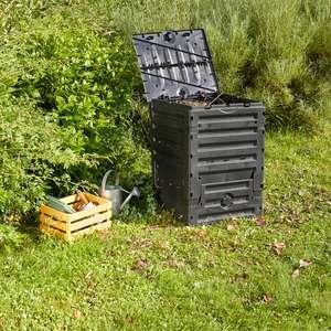 Composteur en plastique recyclé Garantia Eco-Master - 300L, Noir