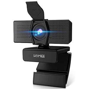 Webcam Homiee CW1002 - 1080P, Micro Intégré, Angle large, Cache-caméra (Via Coupon - Vendeur tiers)